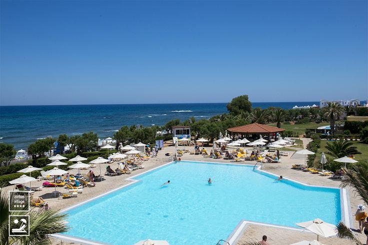 Main Pool #swimmingpool #vitahotels #crete #greece #zorbasvillage #beachfront