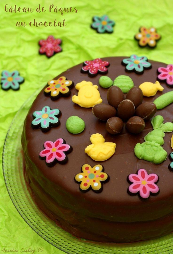 Gâteau au chocolat au lait facile pour Pâques.