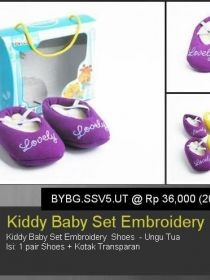 Kiddy Baby Set Emboidery Shoes BYBG.SSV5.UT