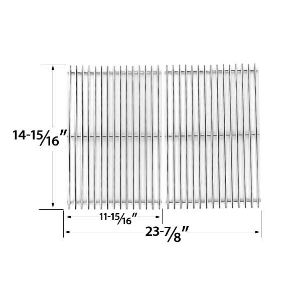 2 PACK STAINLESS STEEL REPLACEMENT COOKING GRID FOR CHARBROIL 463350505 AND THERMOS 466364006 GAS GRILL MODELS Fits Compatible Charbroil Models : 463350108, 463350505, 463351505, 463351605, 463352505, 463353505, 463360306, 463361305, 463362006, 463362206, 466362406, 463363006, 466454706 Read More @http://www.grillpartszone.com/shopexd.asp?id=34754&sid=37380