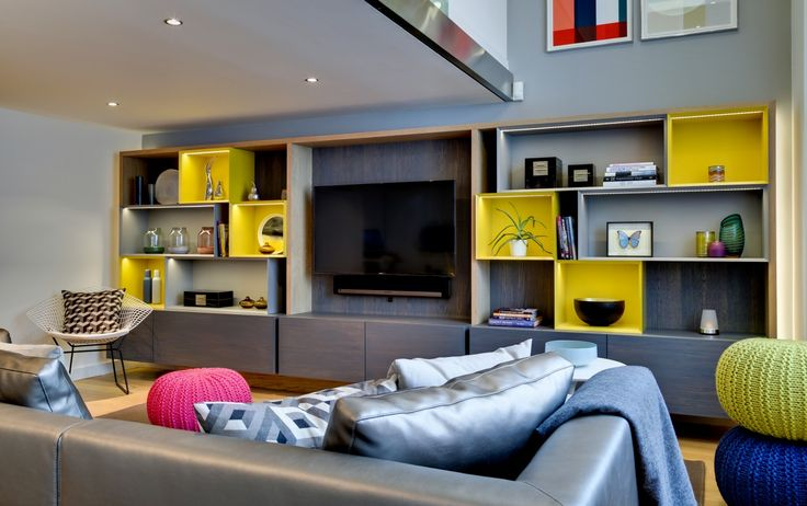 Bespoke TV housing by Daniel Hopwood. Interior and Architectural Design