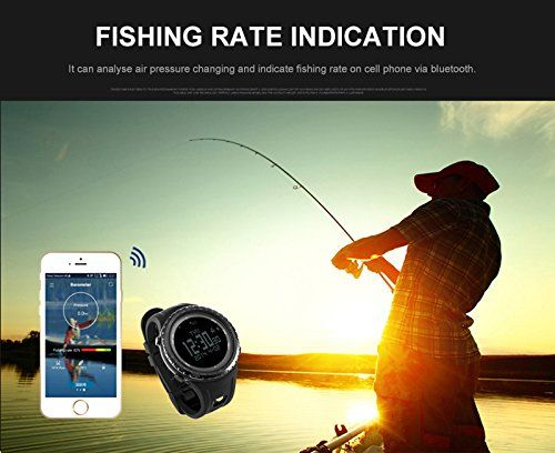 SunRoad FR803 Outdoor Men Digital Bluetooth Smart Sports Watch -5TM Waterproof Outdoor Altimeter Compass EL Backlight Pedometer Watches Man for Android 4.0 and Apple iOS 7.0   Smart Watch FR803 is combined activity record, training record, calrie, distance, target, selfie, call notify (Few mobile device may can not remind cause of