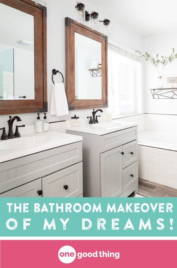 this is how i finally got the bathroom makeover of my dreams home rh pinterest com