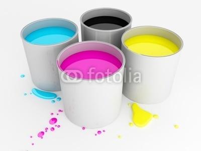 Barattoli di vernice - CMYK