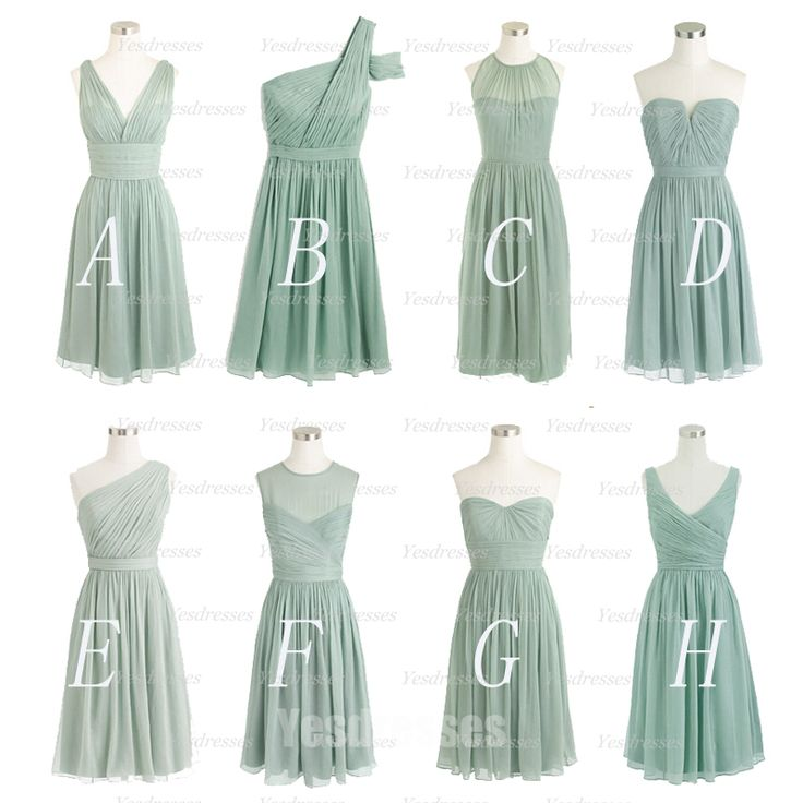 dusty green bridesmaid dresses, cheap bridesmaid dress, short bridesmaid dress…