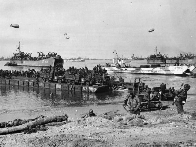 111th Naval Construction Battalion Landing at Omaha Beach D-Day Normandy 1944…