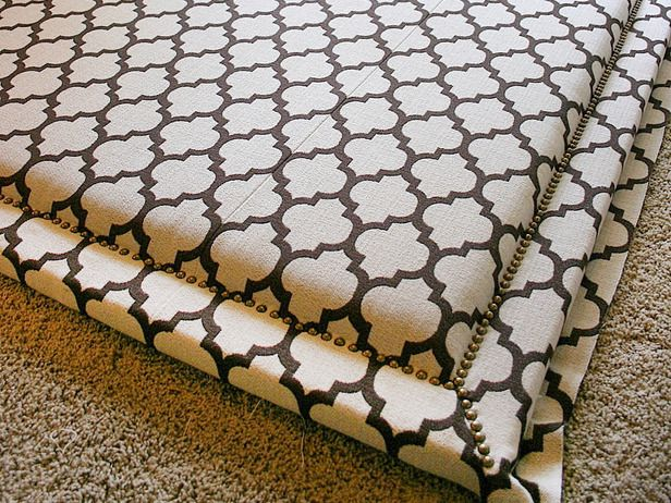 DIY upholstered headboard. I feel a project weekend coming on....