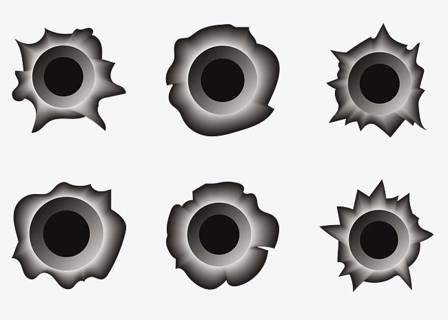 Vector Stereo Shot Silver Black Metal Punch Traces Bullet Black Silver Black Png Transparent Clipart Image And Psd File For Free Download Bullet Holes Bullet Vector Clipart