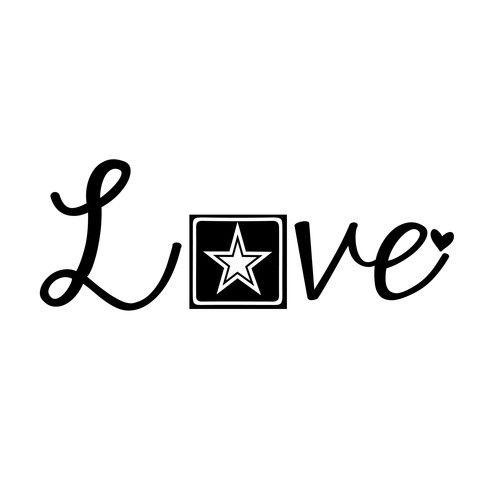 Army Love... This would make a cute tattoo
