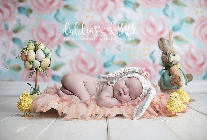 Dallas Newborn Photographer, newborn girl, easter, peter cottontail, bunny