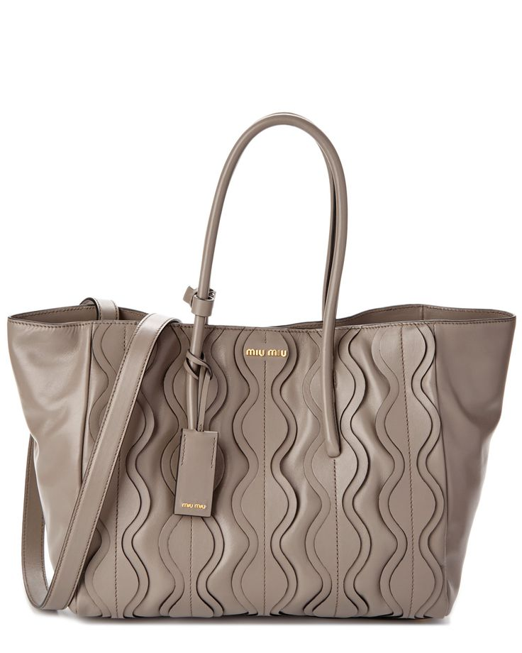 Spotted this Miu Miu Ruched Leather Tote on Rue La La. Shop (quickly!).