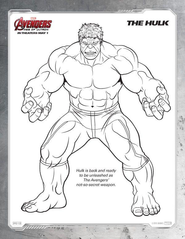 Avengers Coloring Pages Free Hulk Hulk Boyama Sayfalari Marvel