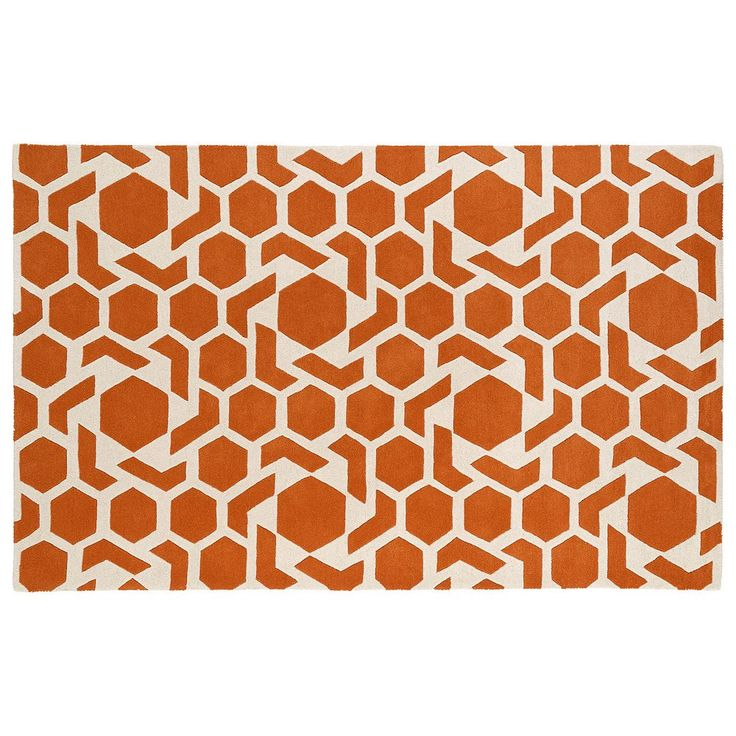 Kaleen Revolution Geometric Star Wool Rug, Orange