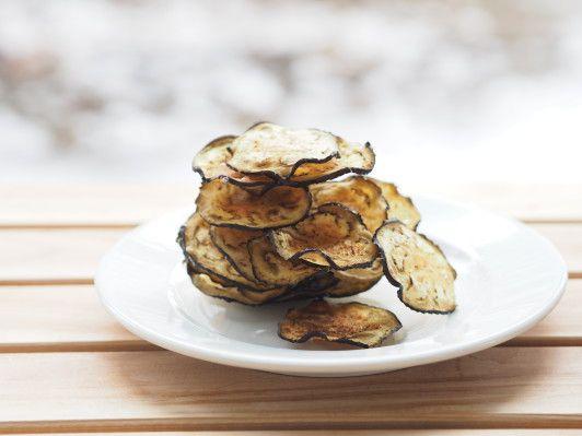 knusprige Auberginen-Chips Pure Food by Romy Dollé www.romydolle.com