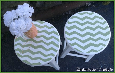 Chevron Stools Makeover