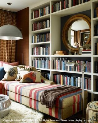 Would love to have an office with reading nook like this