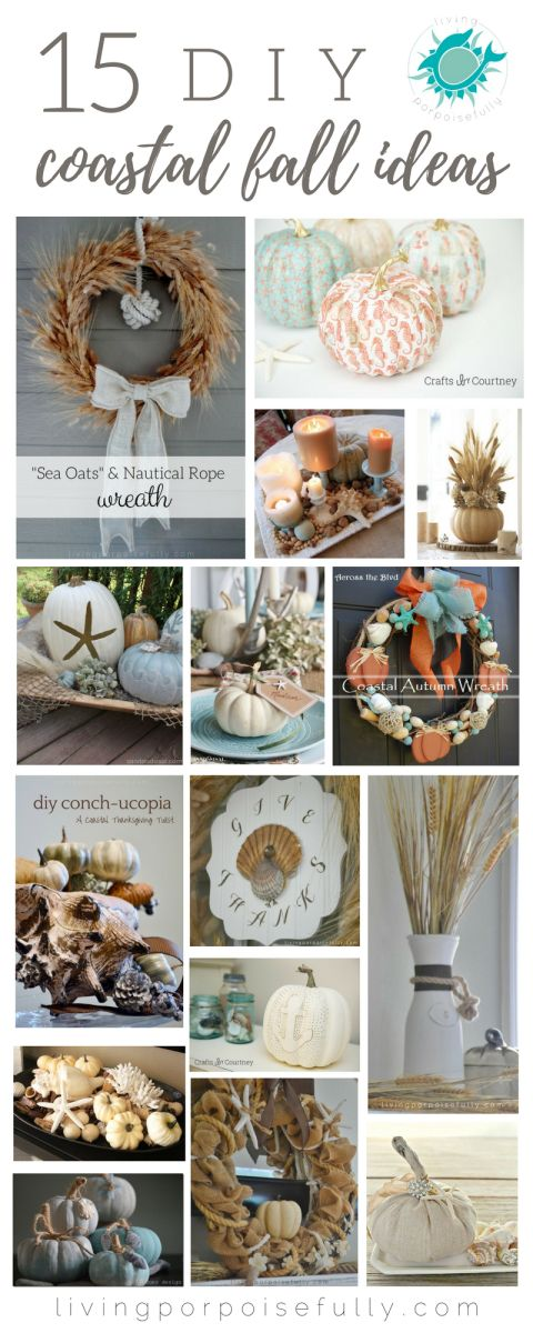 15 DIY Coastal Fall Ideas & Crafts                                                                                                                                                                                 More