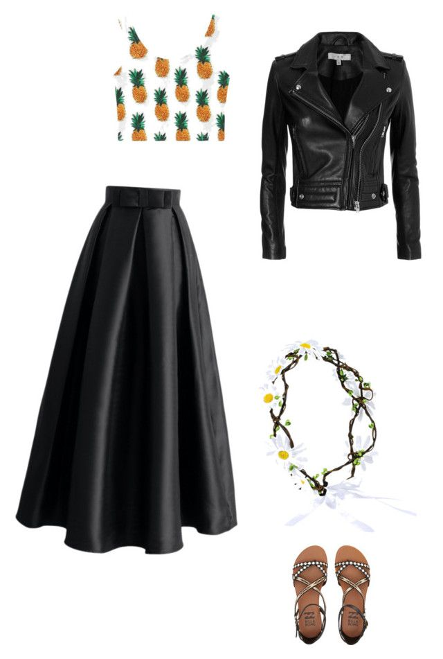 """""""Untitled #340"""" by kaleyhanson on Polyvore featuring Chicwish, IRO, WithChic and Billabong"""