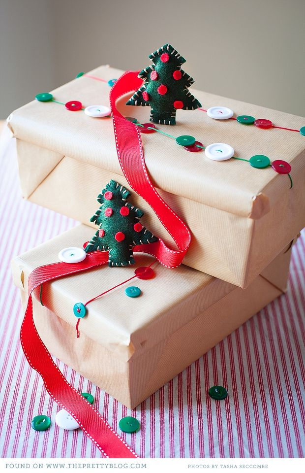 santa's shoebox charity  --great packaging, cute felt trees, and wonderful charity!
