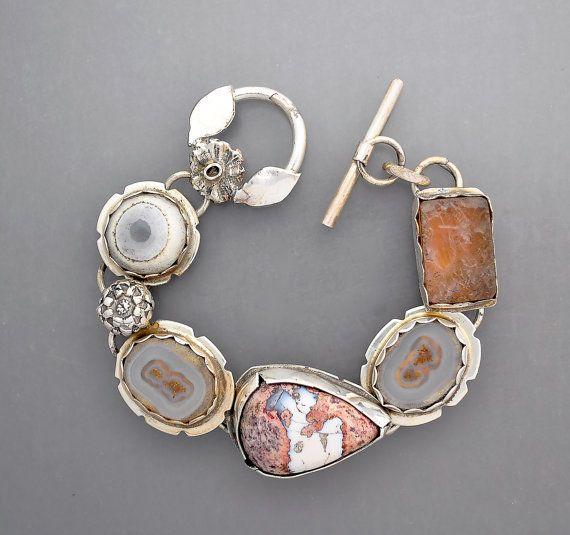 Boulder Opal und Auge Achate für Donna reserviert von Temi auf Etsy