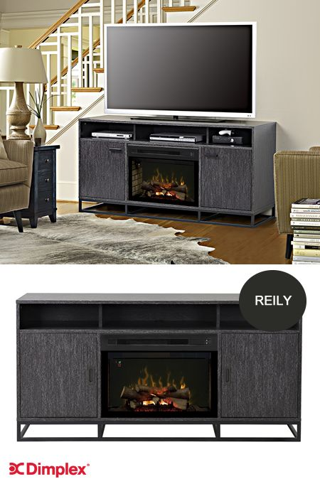 The Reily entertainment solution! The clean contemporary look of the Reily media console works beautifully in the high definition world of home entertainment. Dimplex Reily electric fireplace media console is part of our 2016 line-up at High Point Market #HPMKT. Subscribe to our Blog for updates and news. http://info.dimplex.com/dimplex-blog | Website: http://www.dimplex.com/en/electric_fireplaces/media_consoles/products/gds25gd1660gc/reily_media_console
