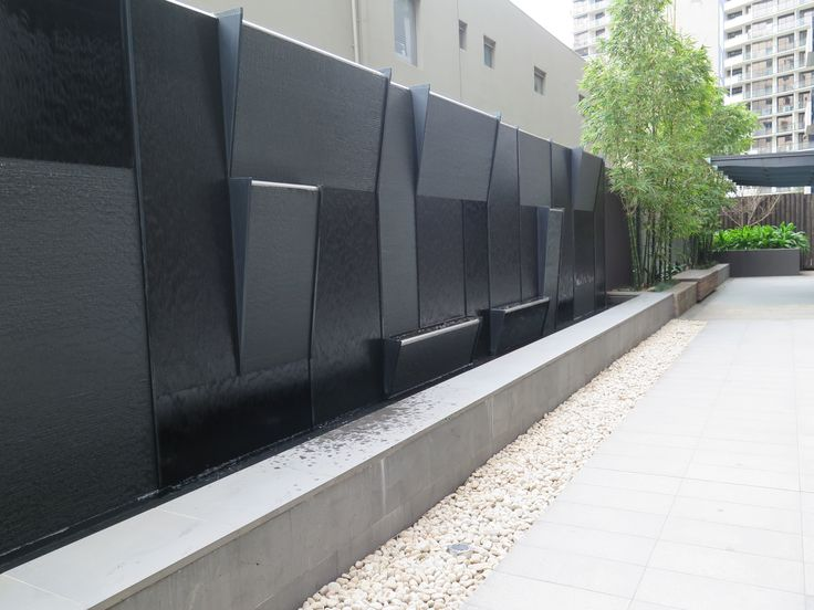 Boutique Apartment Landscaping - Water Feature
