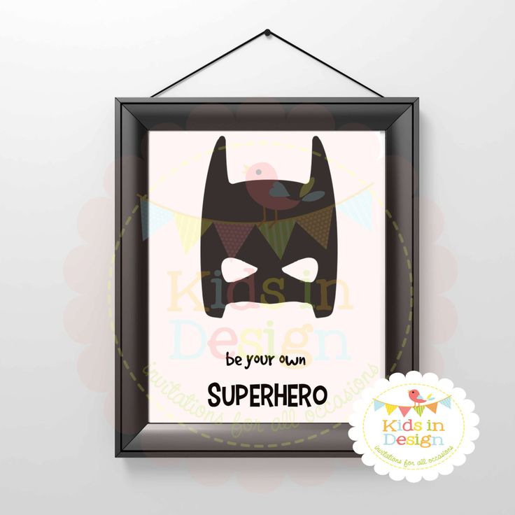 Batman Wall Art, Always Be Batman, Digital File, Printable, PDF, Instant Download by KidsInDesign on Etsy