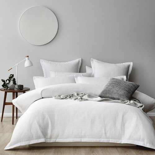 Classic and timeless, the Oxford quilt cover from Home Republic has an easy care quilted design that means no ironing is required. In crisp white with a beautiful detailed flanged edge, this design can be easily styled with any colour scheme so you can change the look season to season.