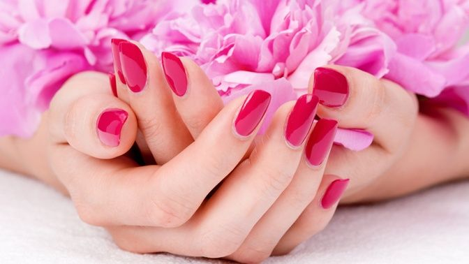 Get a pink Bio Sculpture Gel manicure today and show your support for Breast Cancer Awareness Month.