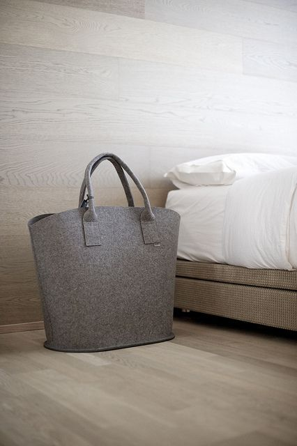 Daff felt bag. Interior design by @Gaile Guevara. Available at providehome.com