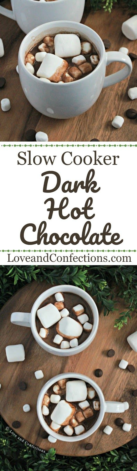 Slow Cooker Dark Hot Chocolate from LoveandConfections.com #sponsored by @floridamilk