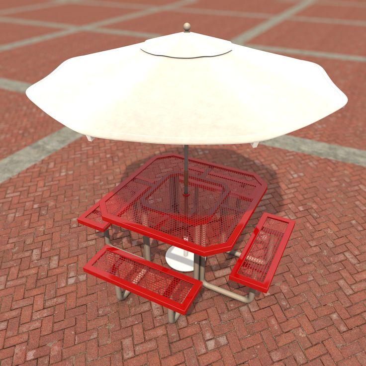 C4d Patio Table Umbrella   3D Model