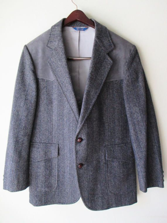 Pendleton Men's Western Style Tweed Herringbone by FourCoquettes