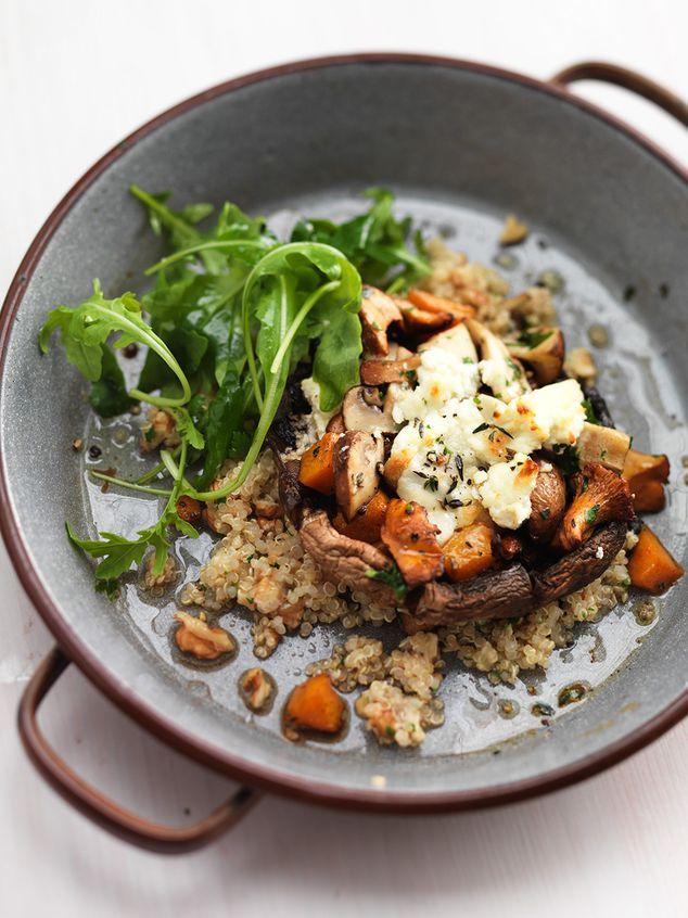 gevulde portobello met quinoa en walnoten | ZTRDG magazine