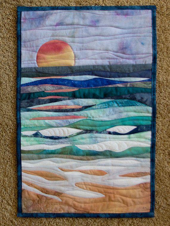 Pin By Cathy Vansomeren On Quilt Ocean Quilt Fabric Art