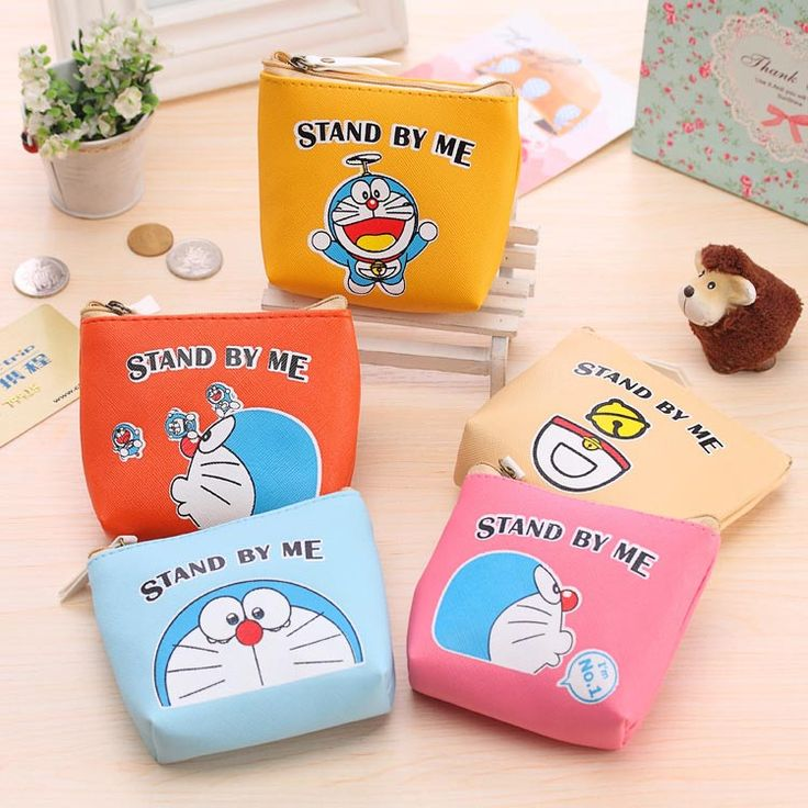 Cartoon Image Doraemon Coin Bag Change Purse For Kids Birthday Party Favor Baby  Shower Souvenirs Return Gift