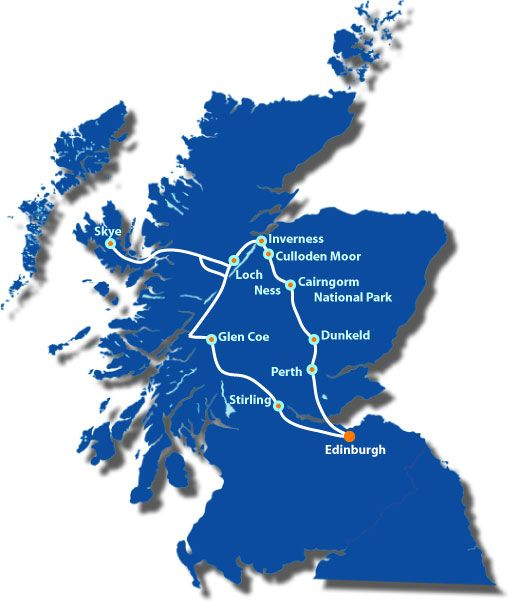 3 day tour of Scotland includes, Loch Ness, The Glens, Castles, Isle of Skye, and a taste of the Highlands.