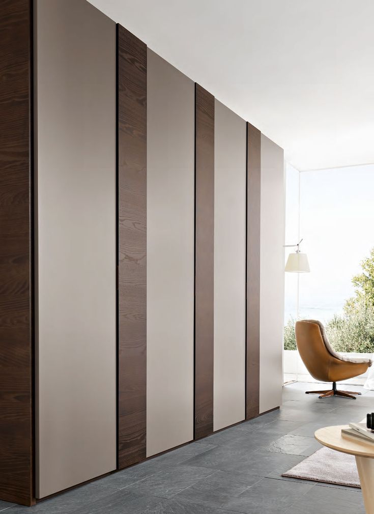 Modern And Fancy Bedroom Wardrobes And Closets : Fancy Vertical Large Italian Bedroom Wardrobe Design Inspiration with Four Doors in Spaciou...
