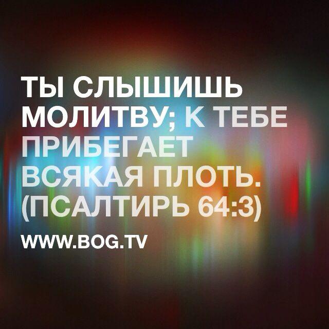 """Пс 64:3 """"Ты слышишь молитву"""" #Бог слышит тебя защищает #ПоговорисБогом ❤️ #Богтв #Bogtv #God #bible #библия #молитва"""