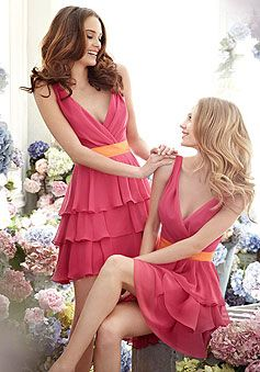 bridesmaid dresses except I would want blue and purple