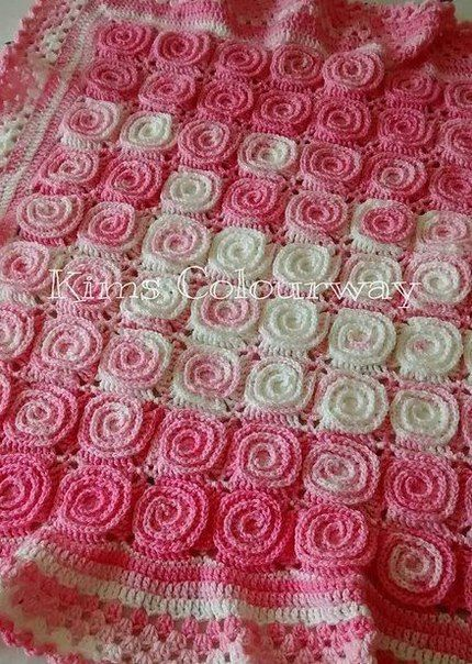 ergahandmade: Crochet Blanket + Free Pattern Step By Step + Diagram ༺✿ƬⱤღ http://www.pinterest.com/teretegui/✿༻