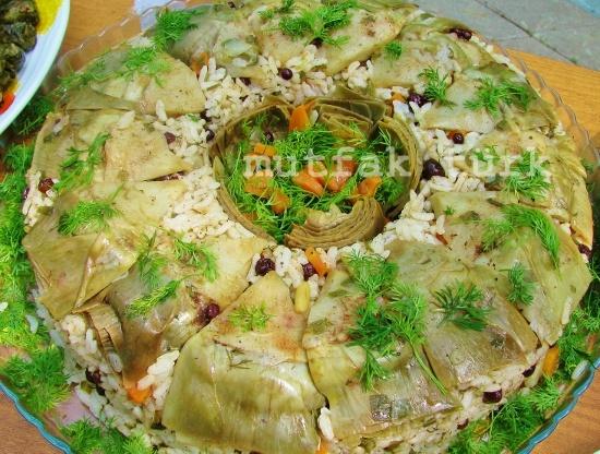 enginarlı zeytinyağlı pilav