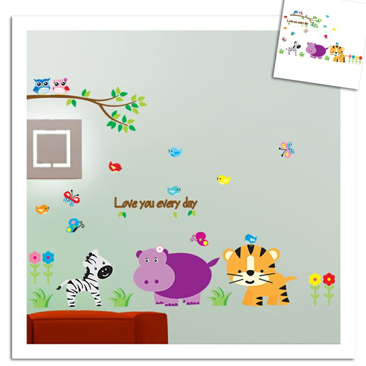 Best Animal Wall Decals Images On Pinterest Animal Wall - Zoo animal wall decals