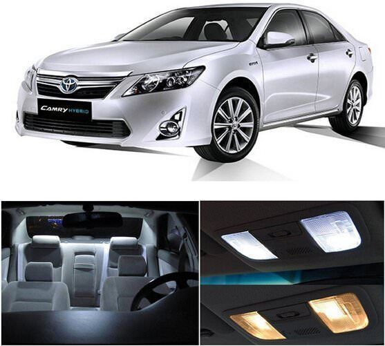 Awesome Amazing 14pcs LED White Lights Interior License Package Kit For Toyota Camry 2012-2016 2017/2018