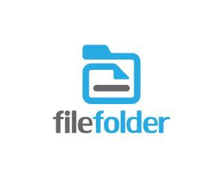 File Folder Logo design - Logo design of a folder with a file inside it.  Price $299.00