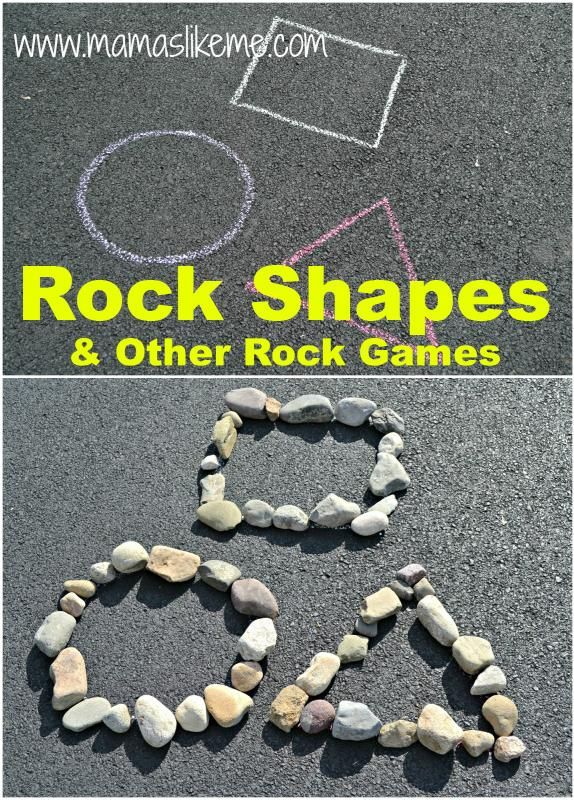 Teaching shapes with rocks - why not paint them and teach colors and shapes?