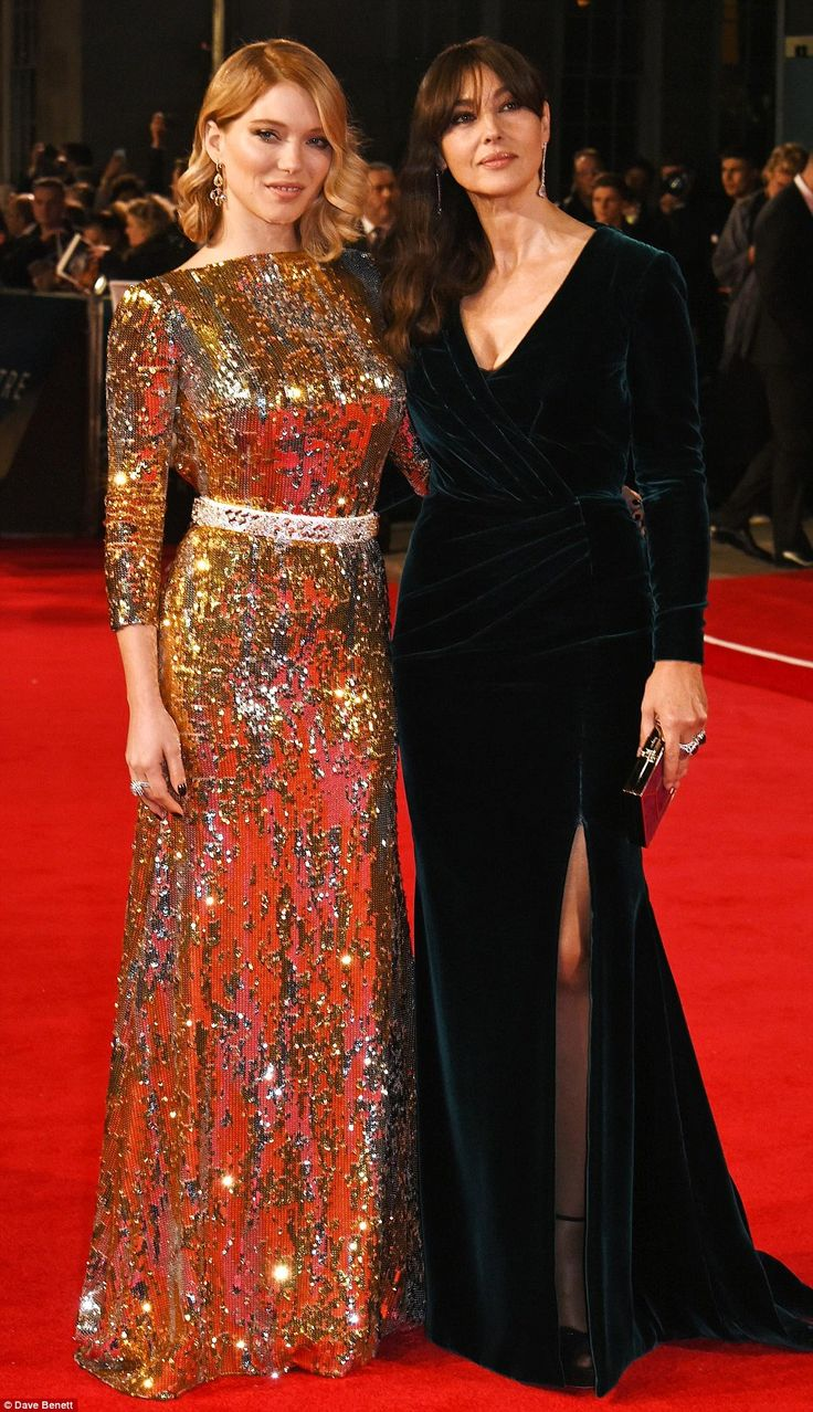 Simply beautiful: Léa and Monica had all eyes on them as they stood side by side ahead of the screening