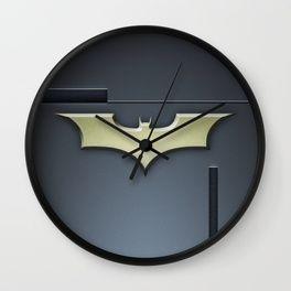 Bat Logo Wall Clock