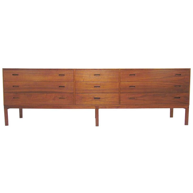Extra Long Danish Teak, Nine Drawer Dresser | From A Unique Collection Of  Antique And