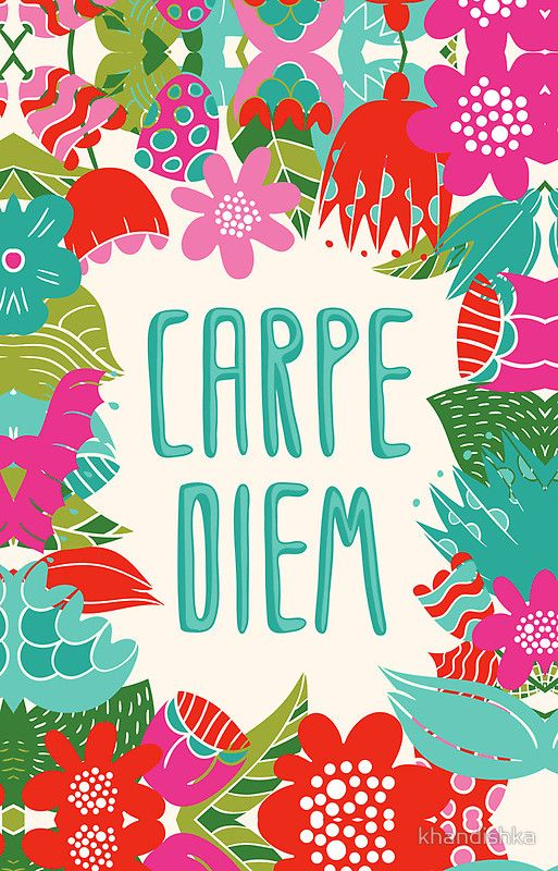 Carpe Diem is often used for emphasis after saying something that urges someone to make the most of the day and what they are doing. It is a useful piece of advice that reminds people to slow down and seize the day - http://mer-cury.com/quotes/14-carpe-diem-quotes-to-help-you-seize-the-day/
